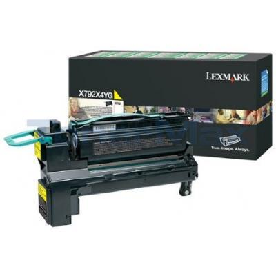 LEXMARK X792 RP PRINT CART YELLOW 20K GOV